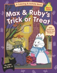 Max & Ruby's Trick or Treat is full of fun activities to keep kids busy.