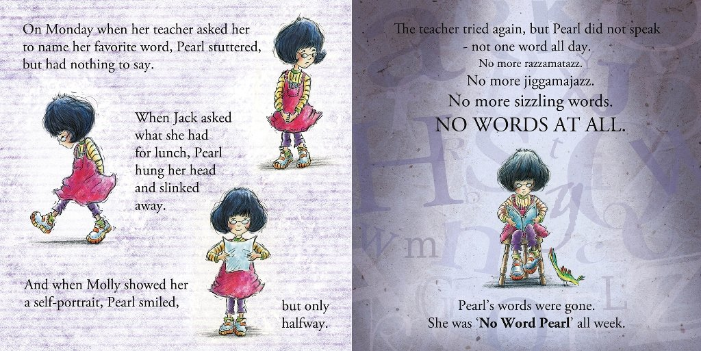 Nicole Groeneweg's One Word Pearl with interior spread illustrations by Hazel Mitchell, Charlesbridge Publishing, 2013.
