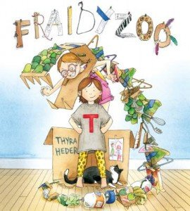 Cover art from Fraidy Zoo by Thyra Heder, Abrams, 2013.