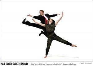 Julie Tice and Michael Trusnovec in Paul Taylor's Banquet of Vultures. Photo by Tom Caravaglia.