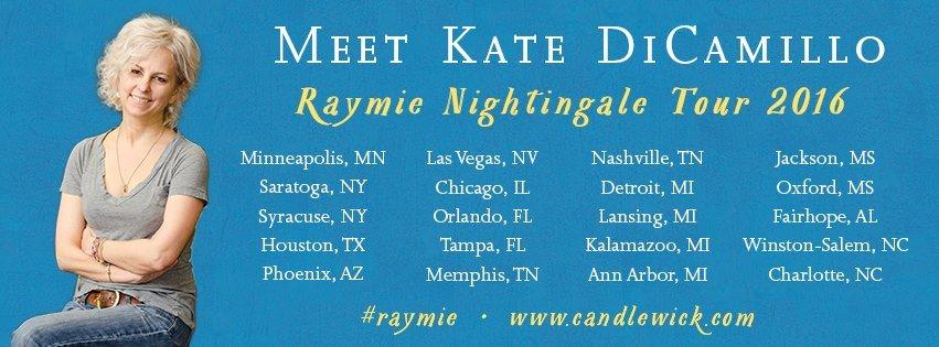 Kate DiCamillo Raymie Nightingale Tour