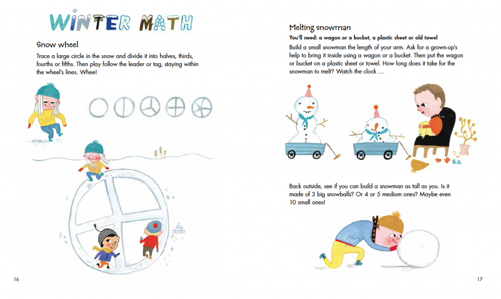 Image of Outdoor Math Winter Math Activity Pg 17