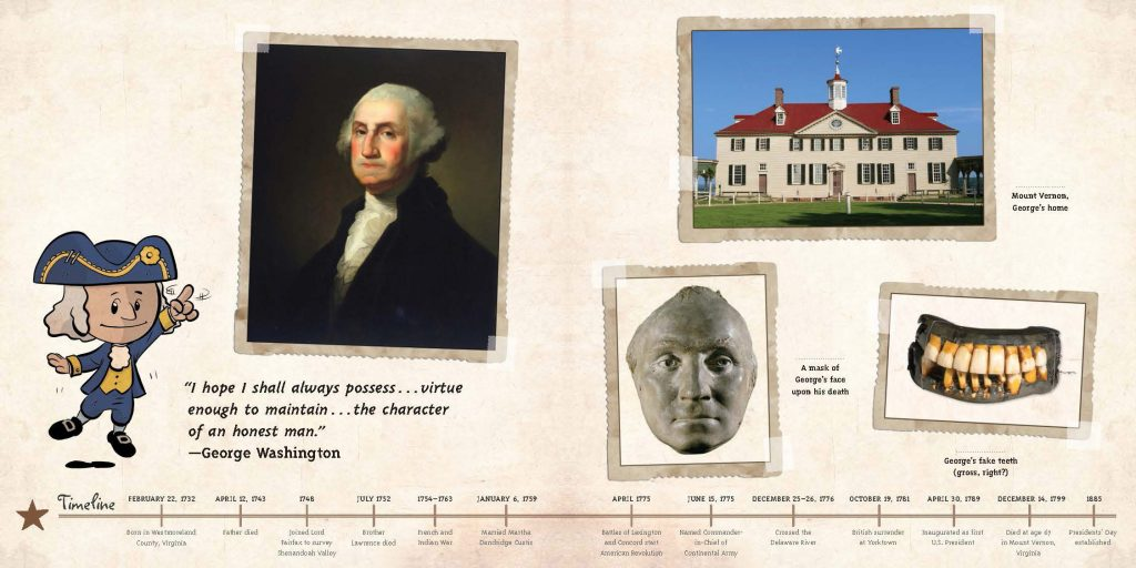 George Washington Timeline from Ordinary People Change the World