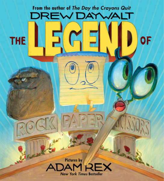 Cover image from The Legend of Rock Paper Scissors by Drew Daywalt