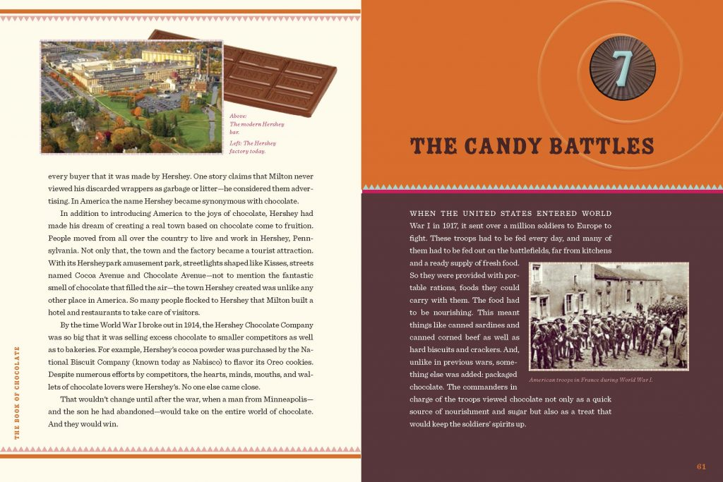 Int. image page 61 The Candy Battles from HP Newquist's The Book of Chocolate