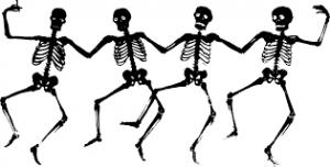 Four dancing skeletons image