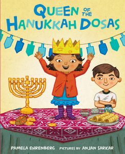Queen of the Hanukkah Dosas picture book cover image