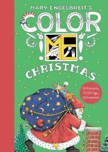 Mary Englebreit's Color ME Christmas Book of Postcards cover