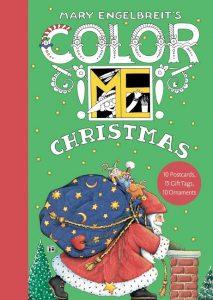 Mary Englebreit's Color ME Christmas Book of Postcards cover