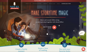 Novel Effect Story Time App for Children website image