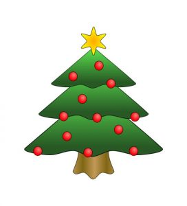 clip art Christmas tree
