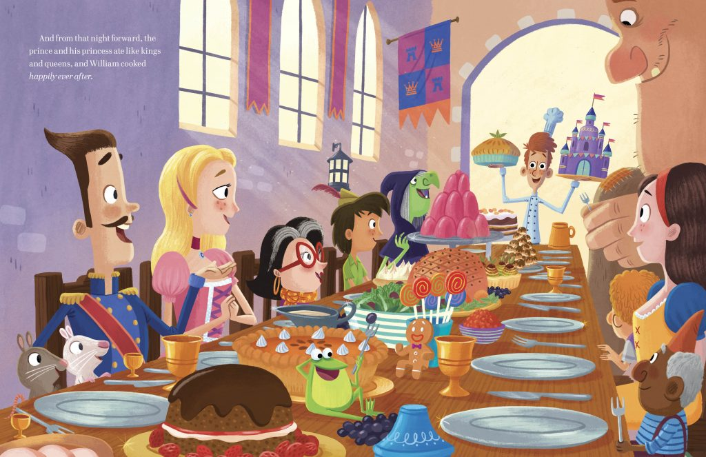 Interior illustration from A Cooked-Up Fairy Tale