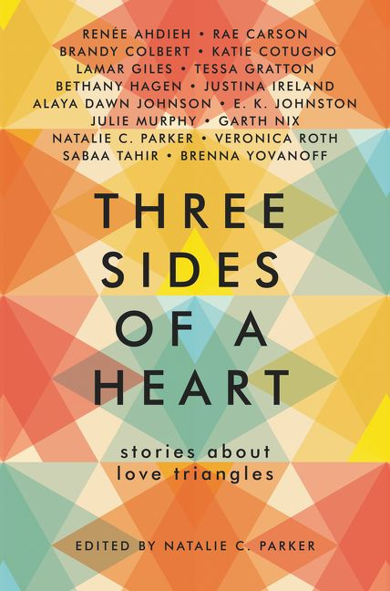 Cover image from anthology Three Sides of a Heart: Stories About Love Triangles