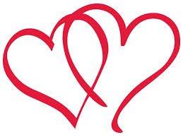 Double Heart motif clip art