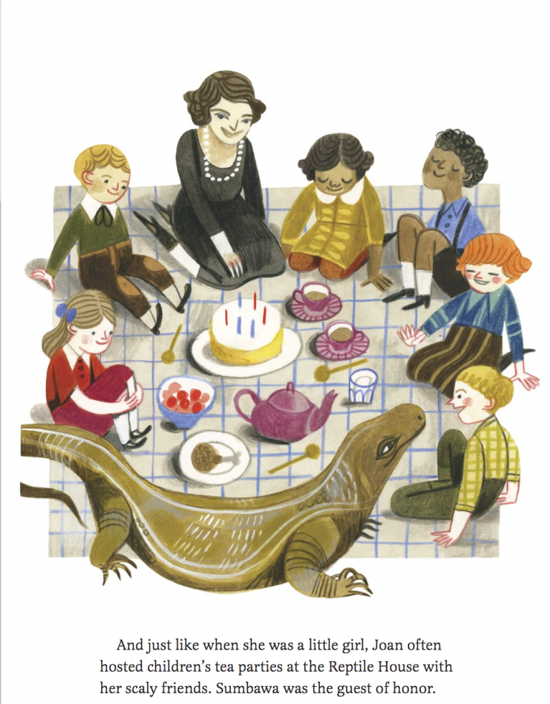 Interior illustration of tea party from Joan Procter, Dragon Doctor