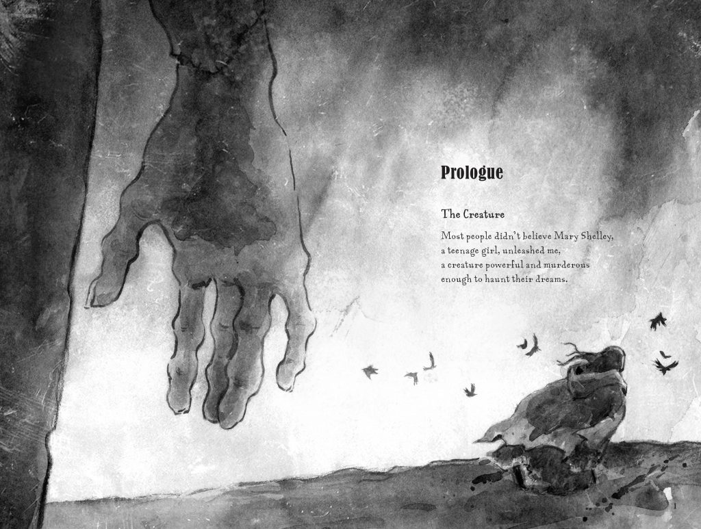 Prologue spread from Mary's Monster by Lita Judge