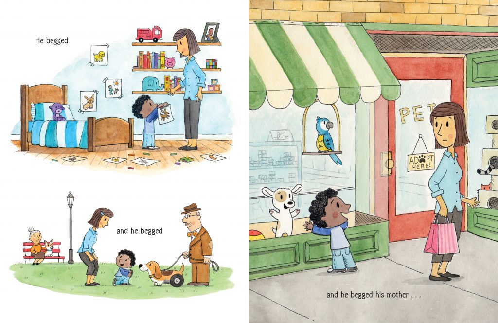Interior illustrations by Eric Barclay from My Pet Wants a Pet