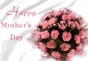 Happy Mother's Day pink roses bouquet image