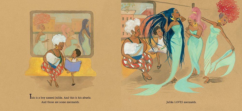 Interior artwork from Julian is a Mermaid by Jessica Love
