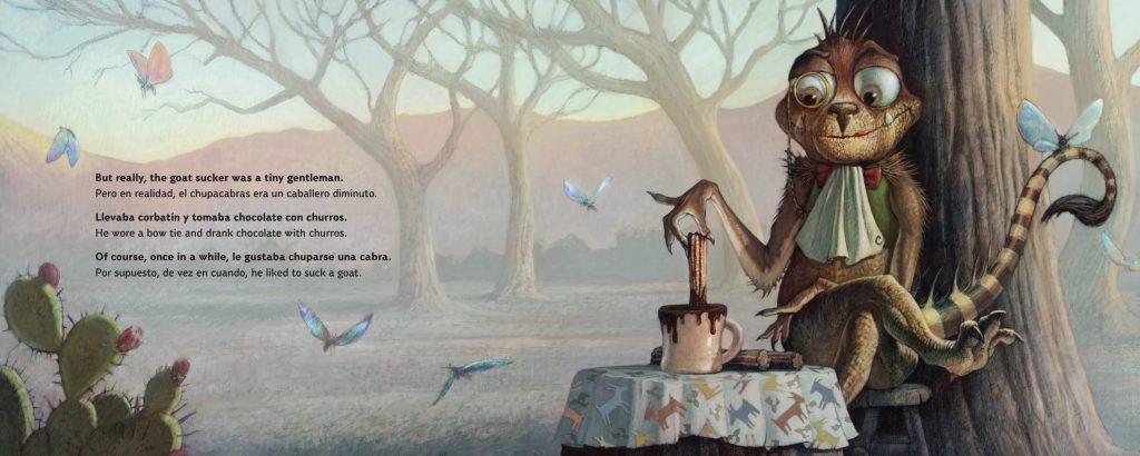 Int. artwork by Crash McCreery rom El Chupacabras by Adam Rubin