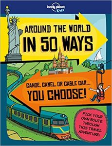 Around The World in 50 Ways book cover illustration