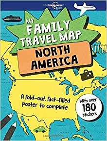 My Family Travel Map - North America from Lonely Planet Kids