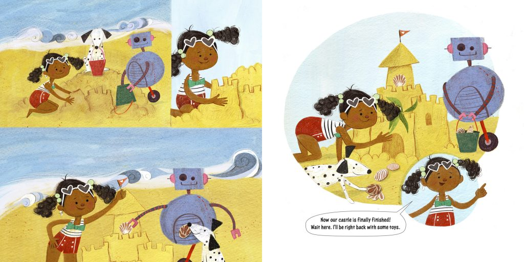 int illustration 2 by Sara Palacios from How to Code a Sandcastle by Josh Funk