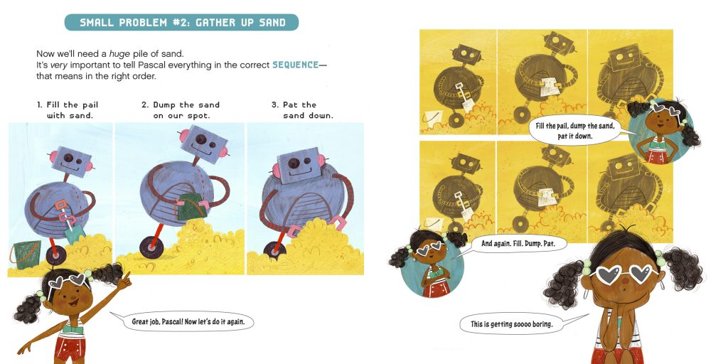int illustration 1 by Sara Palacios from How to Code a Sandcastle by Josh Funk