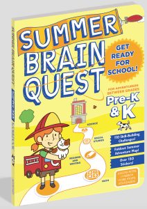 cover illustration SUMMER BRAIN QUEST: Between Grades Pre-K & K from Workman