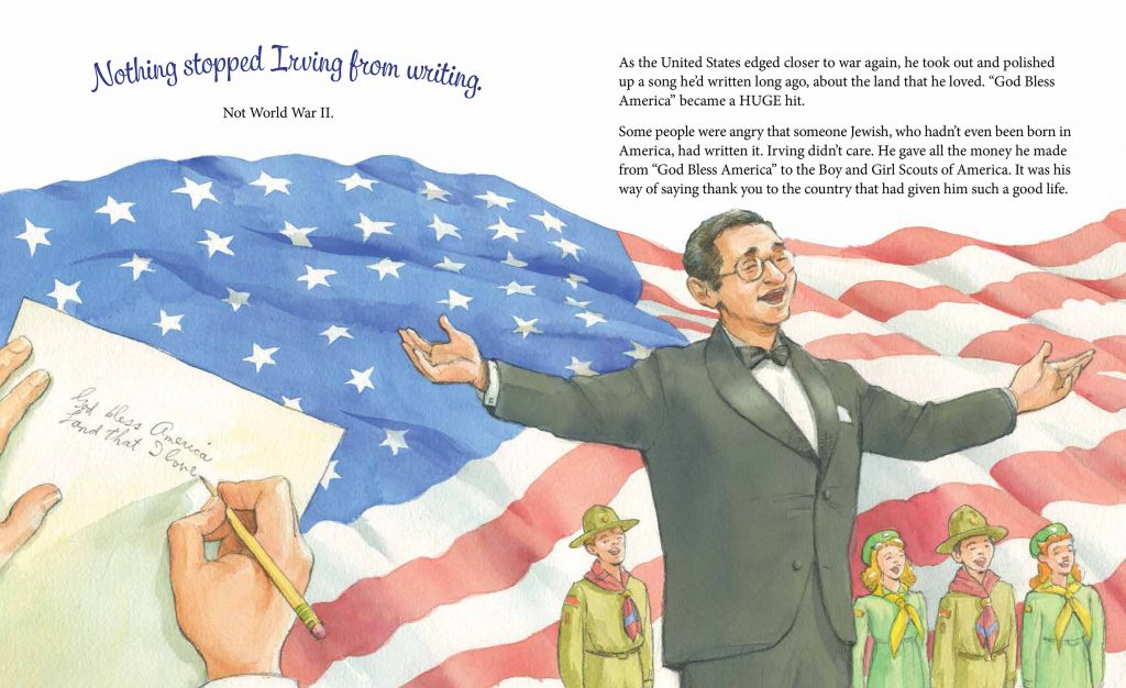 Nothing stopped Irving from writing int artwork from Write On, Irving Berlin!