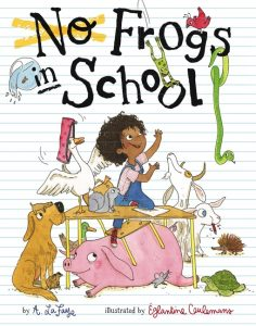 No Frogs in School book cover illustration