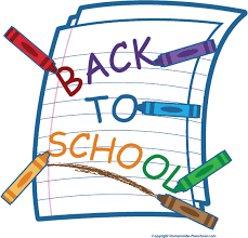 Back to school clip art looseleaf paper