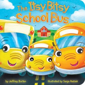 book cover art from The Itsy Bitsy School Bus