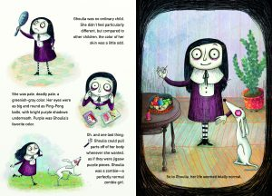 interior spread from Ghoulia by Barbara Cantini