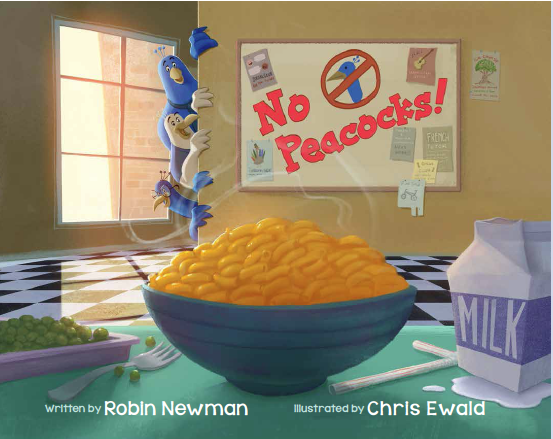 book cover art from No Peacocks!