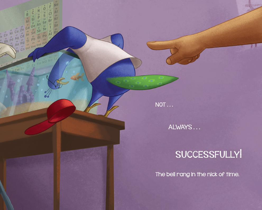 int illustration by Chris Ewald from No Peacocks! by Robin Newman