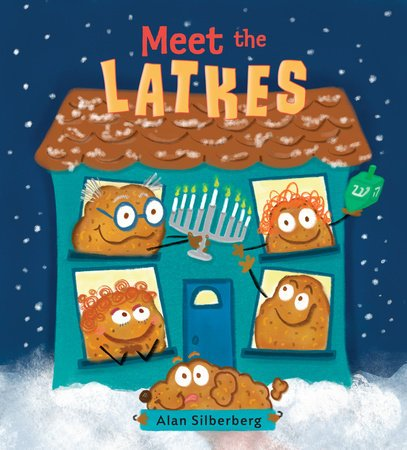 book cover illustration from Meet the Latkes