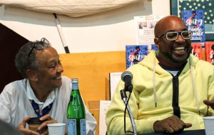 Nikki Giovanni and Kwame Alexander at Skylight Books Swing Panel