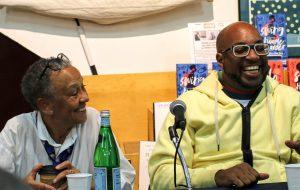 Nikki Giovanni and Kwame Alexander at Skylight Books Swing Panel