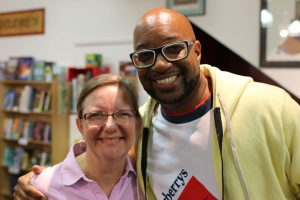 Mary Malhotra with Kwame Alexander at Skylight Books 2018