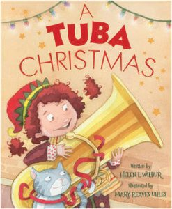 A Tuba Christmas book cover illustration