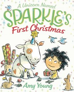 A Unicorn Named Sparkle's First Christmas cover illustration