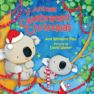 If Animals Celebrated Christmas book cover illustration