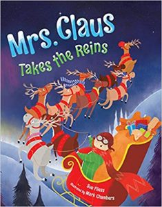 Mrs. Claus Takes the Reins cover illustration