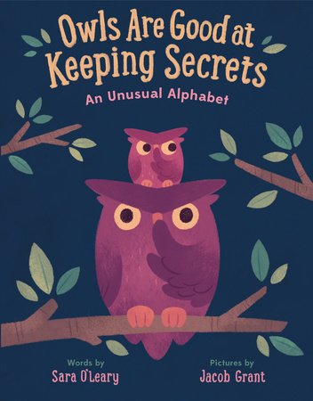 Owls Are Good at Keeping Secrets by Sara O'Leary book cover illustration
