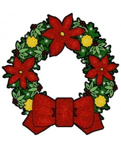 Wreath free Christmas clip art image