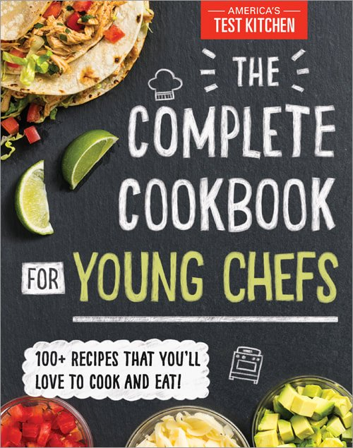 cover art and photograph from The Complete Cookbook for Young Chefs