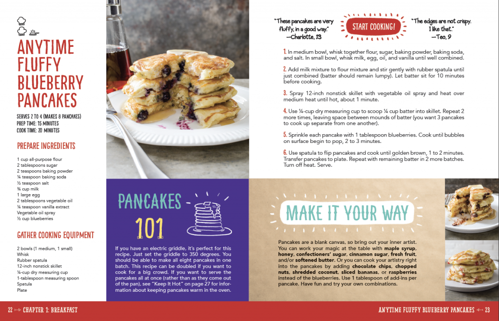 int artwork + photography from The Complete Cookbook for Young Chefs by America's Test Kitchen