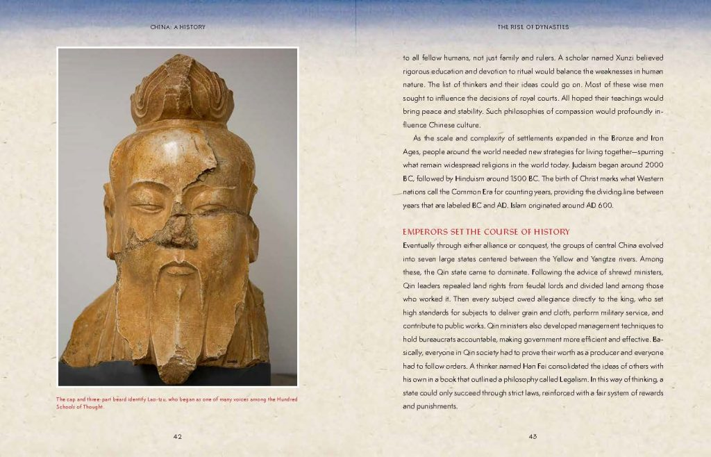int art and text spread from China A History by Cheryl Bardoe