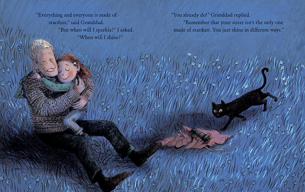 interior spread from Stardust by Jeanne Willis with art by Briony May Smith